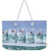 Surfing Sequence Weekender Tote Bag