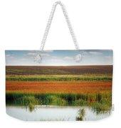 Swamp With Birds Landscape Autumn Season Weekender Tote Bag