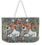 Swan Elephant Weekender Tote Bag