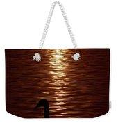 Swan Silhouette Weekender Tote Bag