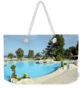 Swimming Pool Summer Vacation Scene Weekender Tote Bag