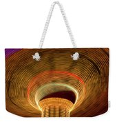 Swing Amusement Ride At Night Weekender Tote Bag