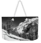 Swiss Winter Mountains Weekender Tote Bag