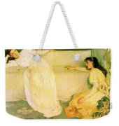 Symphony In White No 3 James Abbott Mcneill Whistler Weekender Tote Bag