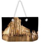 Syracuse, Sicily, Italy - Ortigia Downtown In Syracuse By Weekender Tote Bag