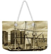 Tall Ship In Baltimore Harbor Weekender Tote Bag