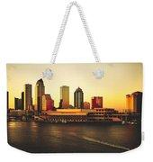 Tampa At Sunset Weekender Tote Bag