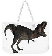 Tarbosaurus Dinosaur Roaring, White Weekender Tote Bag