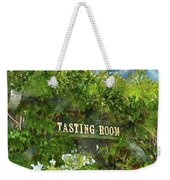 Tasting Room Sign Weekender Tote Bag