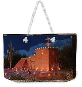 Ted Degrazia's Little Gallery Mission In The Sun Tucson Petley Postcard C.1968-2013 Weekender Tote Bag