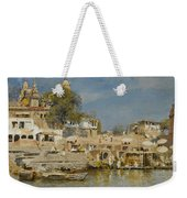 Temples And Bathing Ghat Weekender Tote Bag