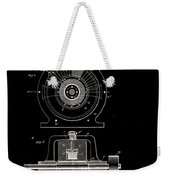 Tesla Generator Patent 1891 Weekender Tote Bag