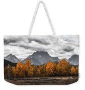 Teton Fall - Modern View Of Mt Moran In Grand Tetons Weekender Tote Bag