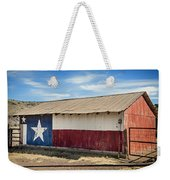 Texas State Flag On A Texan Ranch Barn Weekender Tote Bag