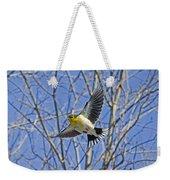 The American Goldfinch In-flight, Weekender Tote Bag