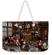 The Archdukes Albert And Isabella Visiting A Collector's Cabinet Weekender Tote Bag