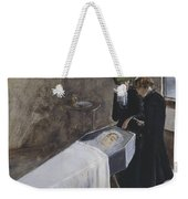 The Artist Attending The Mourning Of A Young Girl Weekender Tote Bag