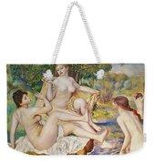 The Bathers Weekender Tote Bag by Pierre Auguste Renoir