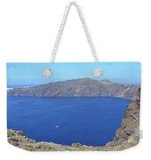 The Beautiful Caldera In Santorini, Greece With The Aegean Sea Weekender Tote Bag