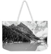 The Beauty Of Lake Louise Bw Weekender Tote Bag