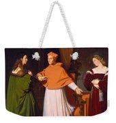 The Betrothal Of Raphael And The Niece Of Cardinal Bibbiena Weekender Tote Bag