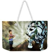 The Boy And The Lion 3 Weekender Tote Bag