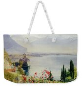 The Castle At Chillon Weekender Tote Bag by John William Inchbold