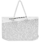 The Legal Contract Weekender Tote Bag