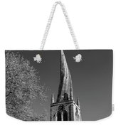 The Crooked Spire Of St Mary And All Saints Church, Chesterfield Weekender Tote Bag