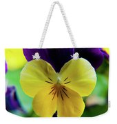 The Face Of A Pansy Weekender Tote Bag