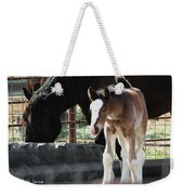 The Flying Colt With The Big White Feet Weekender Tote Bag