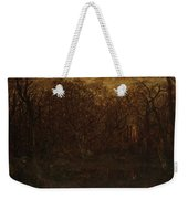 The Forest In Winter At Sunset Weekender Tote Bag