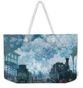 The Gare Saint-lazare Arrival Of A Train Weekender Tote Bag