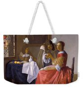 The Girl With A Wineglass Weekender Tote Bag