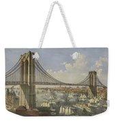 The Great East River Suspension Bridge Weekender Tote Bag
