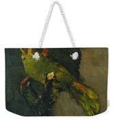 The Green Parrot Weekender Tote Bag