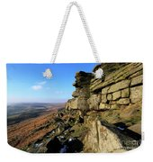 The Gritstone Rock Formations On Stanage Edge Weekender Tote Bag