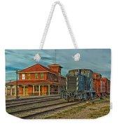 The Historic Santa Fe Railroad Station Weekender Tote Bag