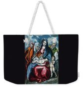 The Holy Family With Saint Anne And The Infant John The Baptist Weekender Tote Bag