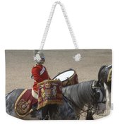 The Kettledrums Of Household Cavalry Weekender Tote Bag by Andrew Chittock