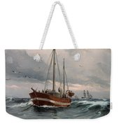 The Lightship At Skagen Reef Weekender Tote Bag