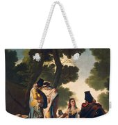 The Maja And The Cloaked Men, Or A Walk Through Andalusia Weekender Tote Bag