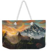 The Majestic Mountain Weekender Tote Bag
