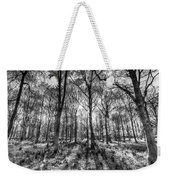 The Monochrome Forest Weekender Tote Bag