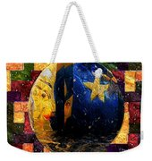 The Moon Has A Bath Weekender Tote Bag