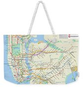 The New York City Pubway Map Weekender Tote Bag