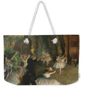 The Rehearsal Of The Ballet On Stage Weekender Tote Bag