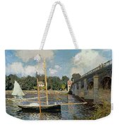 The Seine At Argenteuil Weekender Tote Bag by Claude Monet
