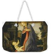 The Virgin Adoring The Child Weekender Tote Bag