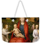 The Virgin And Child Between Two Angels Weekender Tote Bag